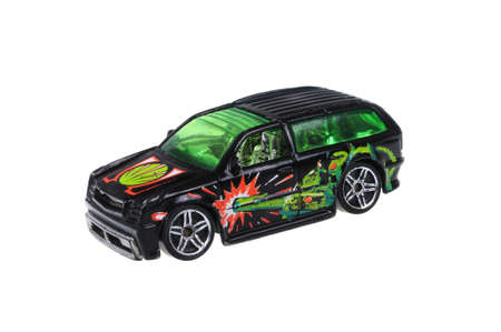 replica: Adelaide, Australia - March 25, 2016:An isolated shot of a 2002 Boom Box Hot Wheels Diecast Toy Car. Hot Wheels cars made by Mattel are highly sought after collectables. Editorial
