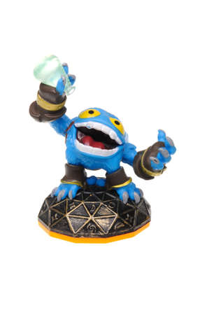 xbox: Adelaide, Australia - February 23, 2016: Skylanders Giants game character Pop Fizz. When a Skylander figurine is placed on the Portal of Power, that character will come to life in the game with their own unique abilities and powers. The skylanders giants  Editorial