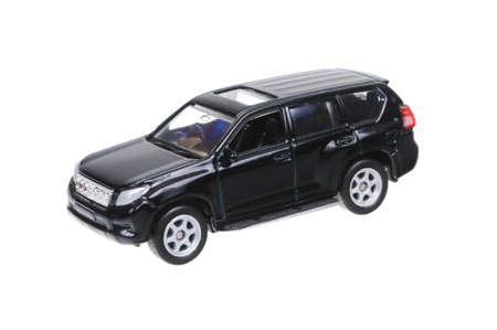 welly: Adelaide, Australia - March 25, 2016:An isolated shot of a Toyota Land Cruiser Prado Welly Diecast Toy Car. Replica diecast toy cars are highly sought after collectables.