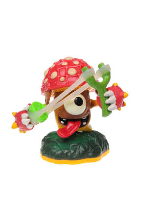 wii: Adelaide, Australia - February 23, 2016: Skylanders Giants game character Shroomboom. When a Skylander figurine is placed on the Portal of Power, that character will come to life in the game with their own unique abilities and powers. The skylanders giant