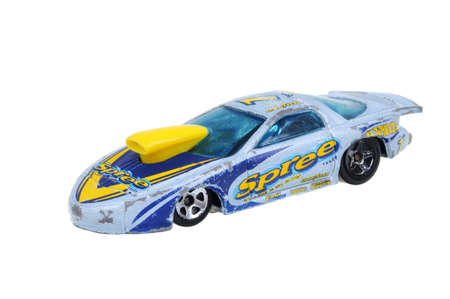 replica: Adelaide, Australia - March 25, 2016:An isolated shot of a 1998 Pro Stock Firebird Hot Wheels Diecast Toy Car. Hot Wheels cars made by Mattel are highly sought after collectables. Editorial