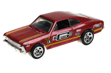 chevrolet: Adelaide, Australia - April 13, 2016:An isolated shot of a 2011 Chevrolet SS Hot Wheels Diecast Toy Car. Hot Wheels cars made by Mattel are highly sought after collectables.