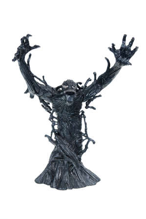 studio photograph: Adelaide, Australia - April 03, 2016: A studio photograph of a venom action figure from the Spiderman universe. Merchandise from Marvel comics and movies are highly sought after collectables. Editorial