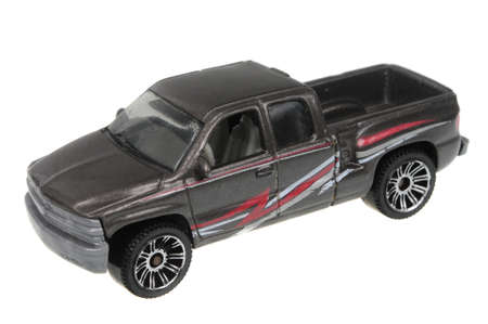 silverado: Adelaide, Australia - March 27, 2016:An isolated shot of a 1999 Chevrolet Silverado Matchbox Diecast Toy Car. Replica diecast toy cars made by Matchbox are highly sought after collectables.