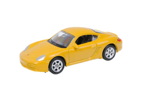 welly: Adelaide, Australia - March 25, 2016:An isolated shot of a Porsche Cayman S Welly Diecast Toy Car. Replica diecast toy cars are highly sought after collectables. Editorial