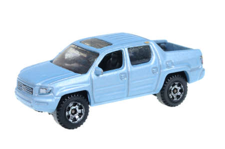 sought: Adelaide, Australia - April 05, 2016:An isolated shot of a 2006 Honda Ridgeline Matchbox Diecast Toy Car. Replica diecast toy cars made by Matchbox are highly sought after collectables.