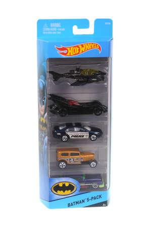 batman: Adelaide, Australia - March 21, 2016:An isolated shot of an unopened Batman Hot Wheels Diecast Toy Car Collection from the popular DC Comics Batman Universe. Merchandise from the Batman universe are highly sought after collectables.