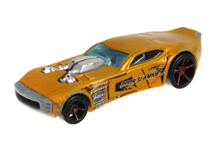 slammer: Adelaide, Australia - April 13, 2016:An isolated shot of a 2007 Nitro Doorslammer Hot Wheels Diecast Toy Car. Hot Wheels cars made by Mattel are highly sought after collectables. Editorial