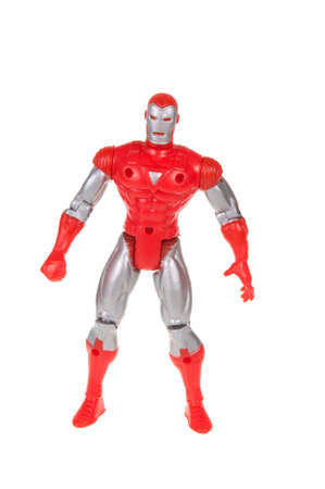 marvel: Adelaide, Australia - November 13, 2015:An isolated shot of a Iron Man action figure from the Marvel universe. Merchandise from Marvel comics and movies are highy sought after collectables. Editorial