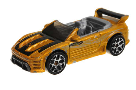 sought: Adelaide, Australia - April 13, 2016:An isolated shot of a 2004 Mitsubishi Eclipse Hot Wheels Diecast Toy Car. Hot Wheels cars made by Mattel are highly sought after collectables.
