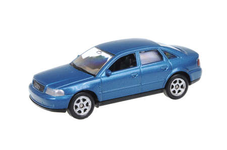 welly: Adelaide, Australia - March 25, 2016:An isolated shot of a Audi A4 Welly Diecast Toy Car. Replica diecast toy cars are highly sought after collectables. Editorial