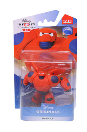 marvel: Adelaide, Australia - February 23, 2016: A studio shot of a Baymax Figurine from the Marvel Comics universe. This figurine is part of the disney infinity 2.0 video game, where placing the figure on the interface allows players to control that character in Editorial