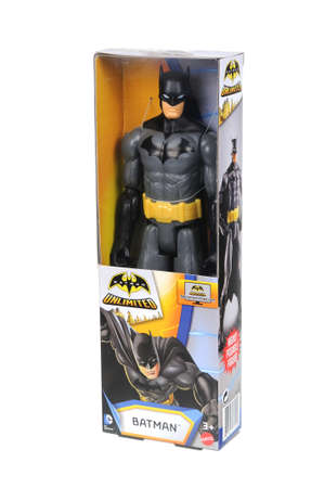 batman: Adelaide, Australia - April 05, 2016:An isolated shot of an unopened Batman action figure from the DC Comics Universe.Merchandise from the DC Comics Universe are highy sought after collectables. Editorial