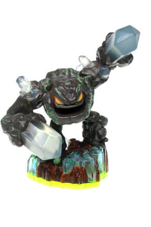 wii: Adelaide, Australia - February 23, 2016: Skylanders Spyros Adventures Prism Break. When a Skylander figurine is placed on the Portal of Power, that character will come to life in the game with their own unique abilities and powers. The skylanders giants  Editorial