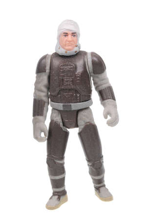 action figure: Adelaide, Australia - March 15, 2016:An isolated shot of a Dengar action figure from the Star Wars universe.Merchandise from the Star Wars movies are highy sought after collectables. Editorial