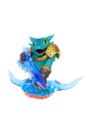wii: Adelaide, Australia - February 23, 2016: Skylanders Trap Team game character Snap Shot. When a Skylander figurine is placed on the Portal of Power, that character will come to life in the game with their own unique abilities and powers. The skylanders tra