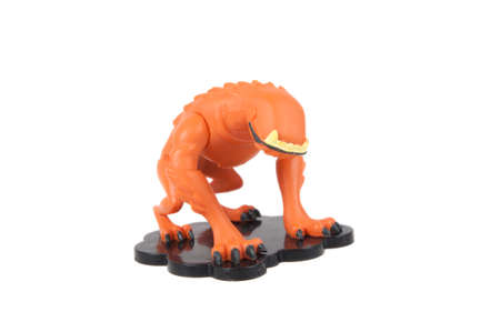 animated alien: Adelaide, Australia - July 29, 2015:A studio shot of a Wildmutt action figure from the Animated Series Ben 10.Ben 10 is extremely popular worldwide with children. Editorial