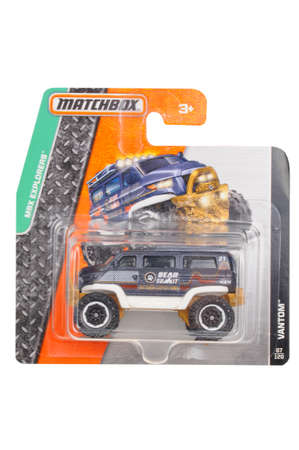 sought: Adelaide, Australia - April 15, 2016:An isolated shot of an unopened Vantom Matchbox Diecast Toy Car. Replica Vehicles made by Hot Wheels are highy sought after collectables. Editorial