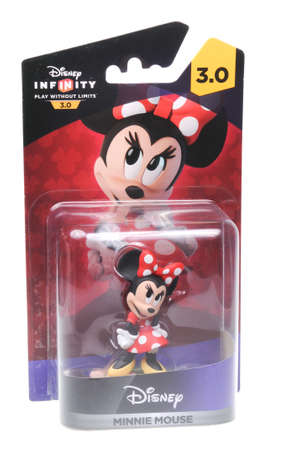 inside out: Adelaide, Australia - February 23, 2016: A studio shot of a Minnie Mouse Disney Infinity 3.0 Figurine from the animated Disney movie Inside Out. Disney Infinity is a popular video game released on all major game consoles, placing the character on the inte