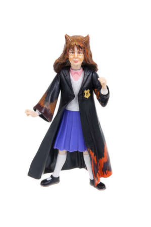 granger: Adelaide, Australia - January 15, 2016: A studio shot of a Hermione Action Figure from the popular Harry Potter novel and movie series. A collectable item sold worldwide.