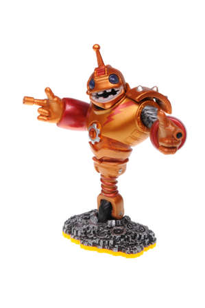 wii: Adelaide, Australia - February 23, 2016: Skylanders Giants game character Bouncer. When a Skylander figurine is placed on the Portal of Power, that character will come to life in the game with their own unique abilities and powers. The skylanders giants g