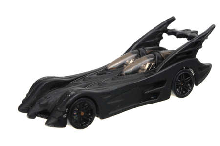 affinity: Adelaide, Australia - April 24, 2016:An isolated shot of a 2012 Batmobile Affinity Hot Wheels Diecast Toy Car. Hot Wheels cars made by Mattel are highly sought after collectables. Editorial