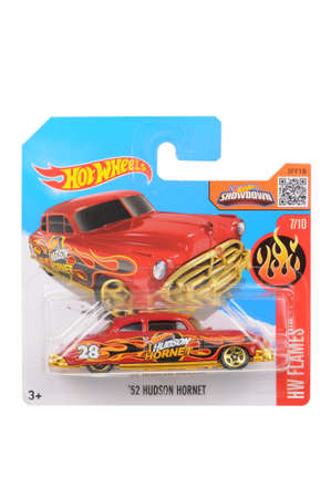 sought: Adelaide, Australia - April 18, 2016:An isolated shot of an unopened 1952 Hudson Hornet Hot Wheels Diecast Toy Car. Replica Vehicles made by Hot Wheels are highy sought after collectables.