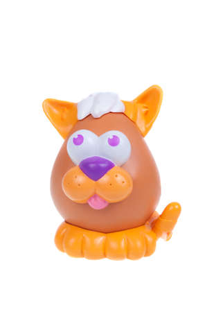toy story: Adelaide, Australia - January 15, 2016: A Mr Potato Head Cat toy isolated on a white background. Mr Potato Head is a popular toy which has been in production since 1952. The toy has also appeared in Television series, the Toy Story Movies and video games.