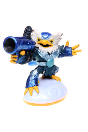 wii: Adelaide, Australia - February 23, 2016: Skylanders Giants game character Jet-Vac. When a Skylander figurine is placed on the Portal of Power, that character will come to life in the game with their own unique abilities and powers. The skylanders giants g Editorial