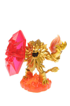 xbox: Adelaide, Australia - February 23, 2016: Skylanders Trap Team game character Wildfire. When a Skylander figurine is placed on the Portal of Power, that character will come to life in the game with their own unique abilities and powers. The skylanders trap Editorial