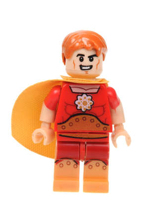 marvel: Adelaide, Australia - April 28, 2016:A studio shot of a Hyperion Lego Minifigure from the Marvel universe. Lego is extremely popular worldwide with children and collectors.