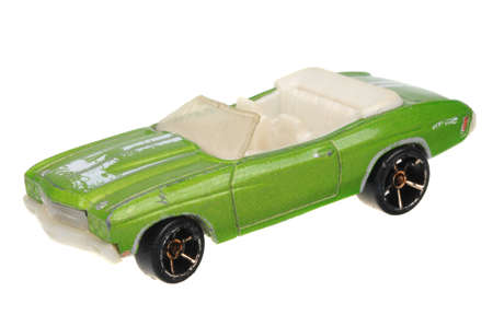 ss: Adelaide, Australia - May 24, 2016:An isolated shot of a 1970 Chevelle SS Hot Wheels Diecast Toy Car. Hot Wheels cars made by Mattel are highly sought after collectables. Editorial