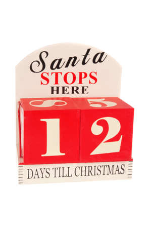 12 days of christmas: A christmas countdown ornament isolated on a white background 12 Days to Christmas