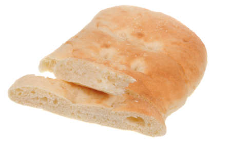 turkish bread: A loaf of Turkish Bread isolated on a white background Stock Photo