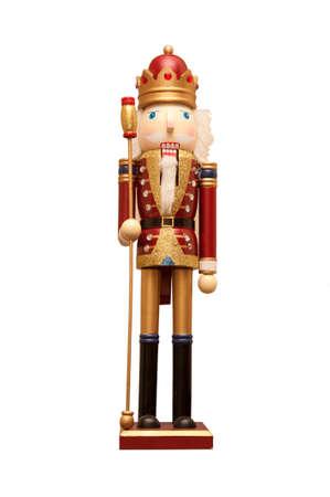 nutcracker: A christmas nutcracker ornament on a white background. Stock Photo