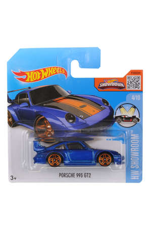 sought: Adelaide, Australia - June 05, 2016:An isolated shot of an unopened Porsche 993 GT2 Hot Wheels Diecast Toy Car. Replica Vehicles made by Hot Wheels are highy sought after collectables. Editorial