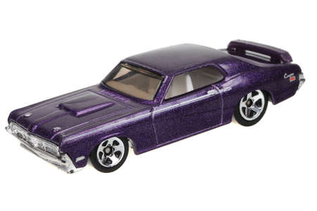 cougar: Adelaide, Australia - May 24, 2016:An isolated shot of a 1969 Mercury Cougar Eliminator Hot Wheels Diecast Toy Car. Hot Wheels cars made by Mattel are highly sought after collectables. Editorial