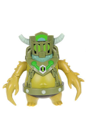 animated alien: Adelaide, Australia - February 14, 2016:A studio shot of a Toepick action figure from the Animated Series Ben 10.Ben 10 is extremely popular worldwide with children. Editorial
