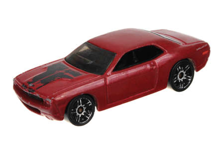 challenger: Adelaide, Australia - May 24, 2016:An isolated shot of a Dodge Challenger Concept Hot Wheels Diecast Toy Car. Hot Wheels cars made by Mattel are highly sought after collectables.