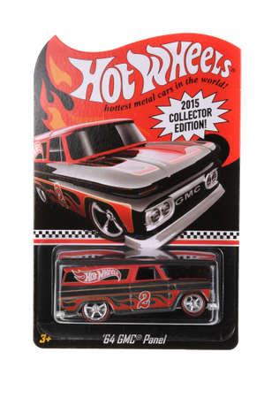 panel van: Adelaide, Australia - June 05, 2016:An isolated shot of an unopened 64 GMC Panel Hot Wheels Diecast Toy Car. Replica Vehicles made by Hot Wheels are highy sought after collectables. Editorial