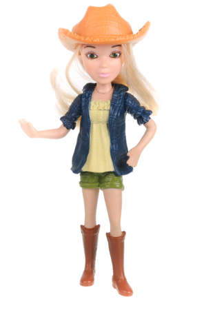 mcdonalds: Adelaide, Australia - February 09, 2016:A studio shot of a Barbie Happy Meal Toy. Distributed with Mcdonalds Happy Meals to promote the popular Barbie range of toys.
