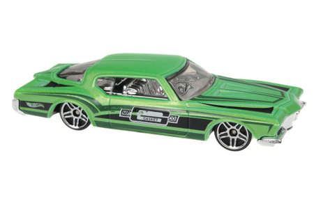 sought: Adelaide, Australia - July 17, 2016:An isolated shot of a 1971 Buick Riviera Hot Wheels Diecast Toy Car. Hot Wheels cars made by Mattel are highly sought after collectables.