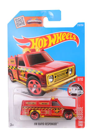 sought: Adelaide, Australia - June 11, 2016:An isolated shot of an unopened HW Rapid Responder Hot Wheels Diecast Toy Car. Replica Vehicles made by Hot Wheels are highy sought after collectables. Editorial