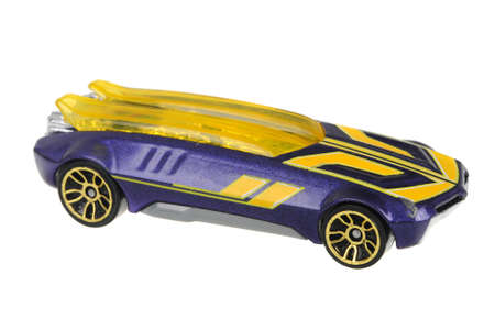 Adelaide, Australia - June 29, 2016:An isolated shot of a 2002 Whip Creamer II Hot Wheels Diecast Toy Car. Hot Wheels cars made by Mattel are highly sought after collectables.