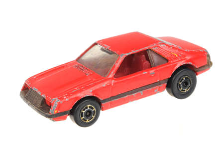 sought: Adelaide, Australia - July 05, 2016:An isolated shot of a 1979 Red Mustang Hot Wheels Diecast Toy Car. Hot Wheels cars made by Mattel are highly sought after collectables. Editorial