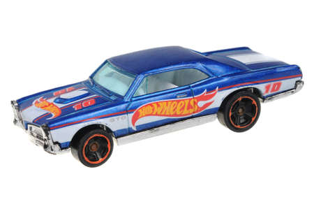 sought: Adelaide, Australia - July 08, 2016:An isolated shot of a 67 Pontiac GTO Hot Wheels Diecast Toy Car. Hot Wheels cars made by Mattel are highly sought after collectables. Editorial