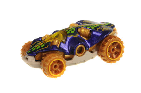 sought: Adelaide, Australia - July 17, 2016:An isolated shot of a 2008 Swamp Buggy Hot Wheels Diecast Toy Car. Hot Wheels cars made by Mattel are highly sought after collectables.