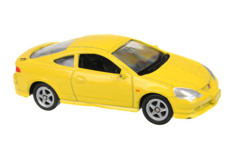 typer: Adelaide, Australia - July 08, 2016:An isolated shot of a Honda Integra Type-R Welly Diecast Toy Car. Replica diecast toy cars are highly sought after collectables.