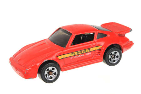 Adelaide, Australia - July 05, 2016:An isolated shot of a 1989 Porsche 930 Hot Wheels Diecast Toy Car. Hot Wheels cars made by Mattel are highly sought after collectables. Editorial