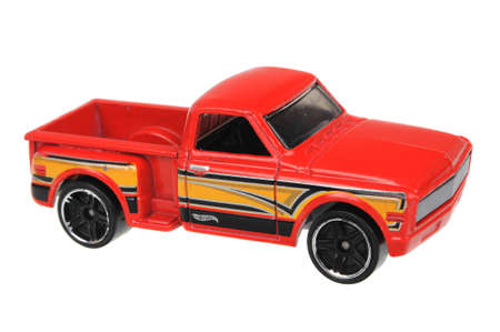 custom car: Adelaide, Australia - July 08, 2016:An isolated shot of a Custom 69 Chevy Hot Wheels Diecast Toy Car. Hot Wheels cars made by Mattel are highly sought after collectables.